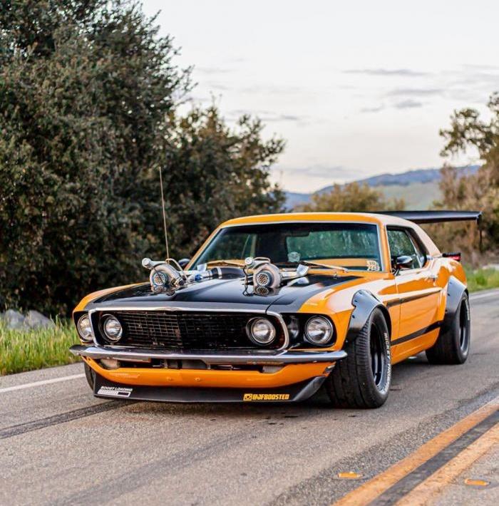 Классический Ford Mustang Twin-Turbo 1969 готов шокировать