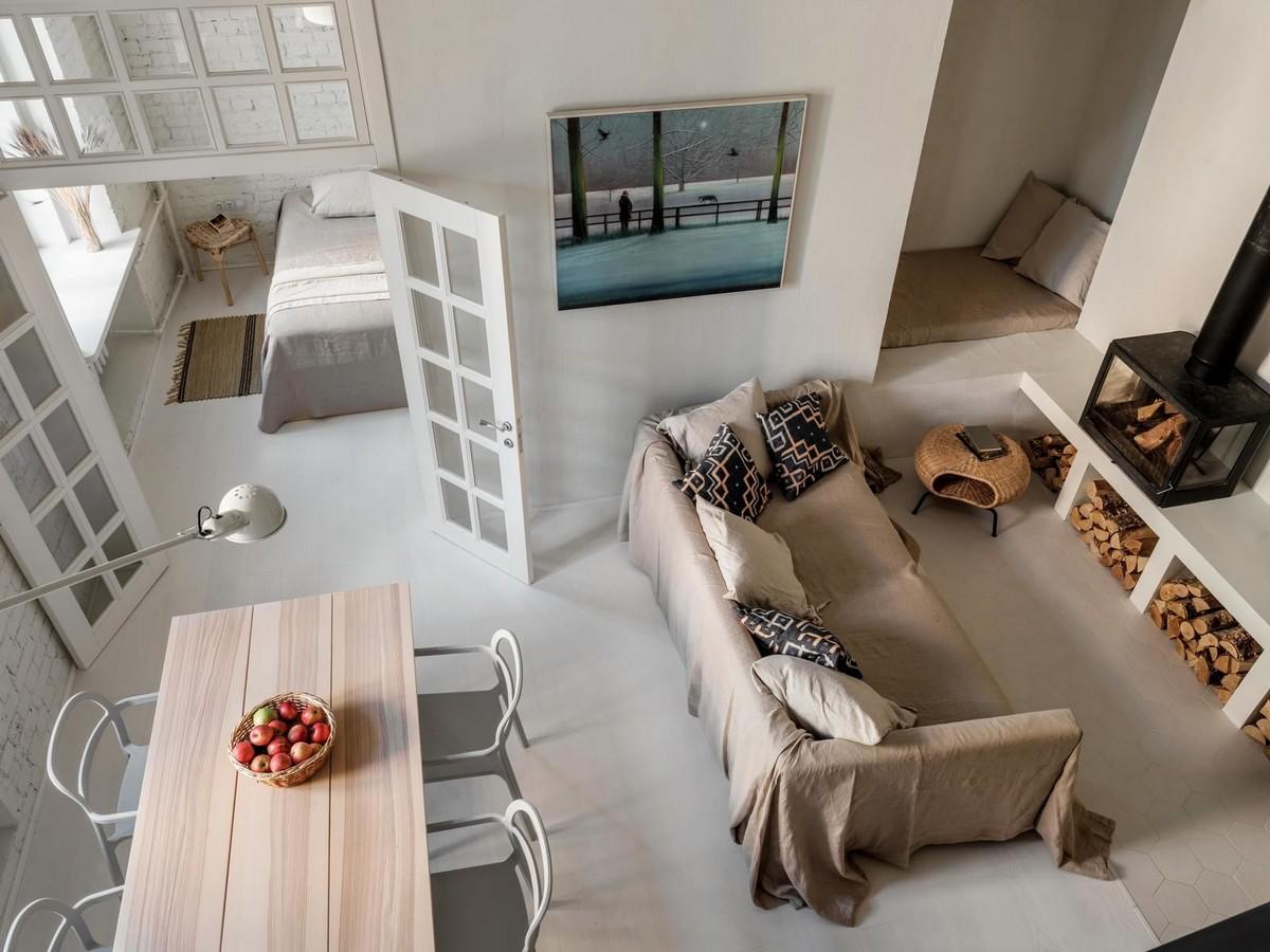 Квартира с мезонином в Москве