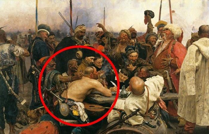 Почему Репин изобразил казака без одежды на известной картине