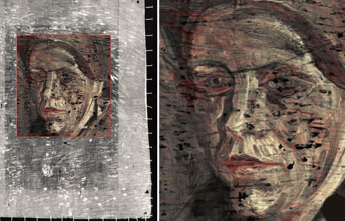 Портрет скрытый под «Клочком травы» Ван Гога