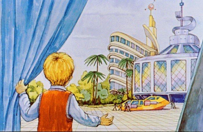Диафильм 1982 года к повести Кира Булычева «100 лет тому вперед»
