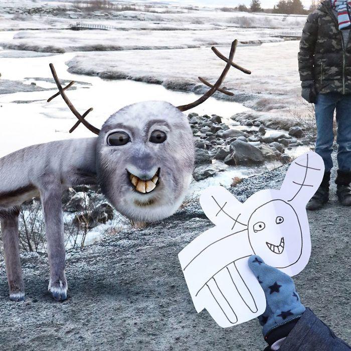 Как бы выглядели в реальности животные с детских рисунков