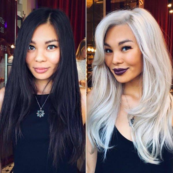 Преображение девушек до и после стрижки и окраски волос