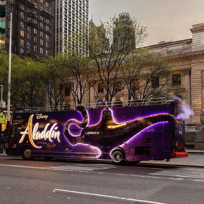 Яркая и креативная реклама на автобусах и троллейбусах