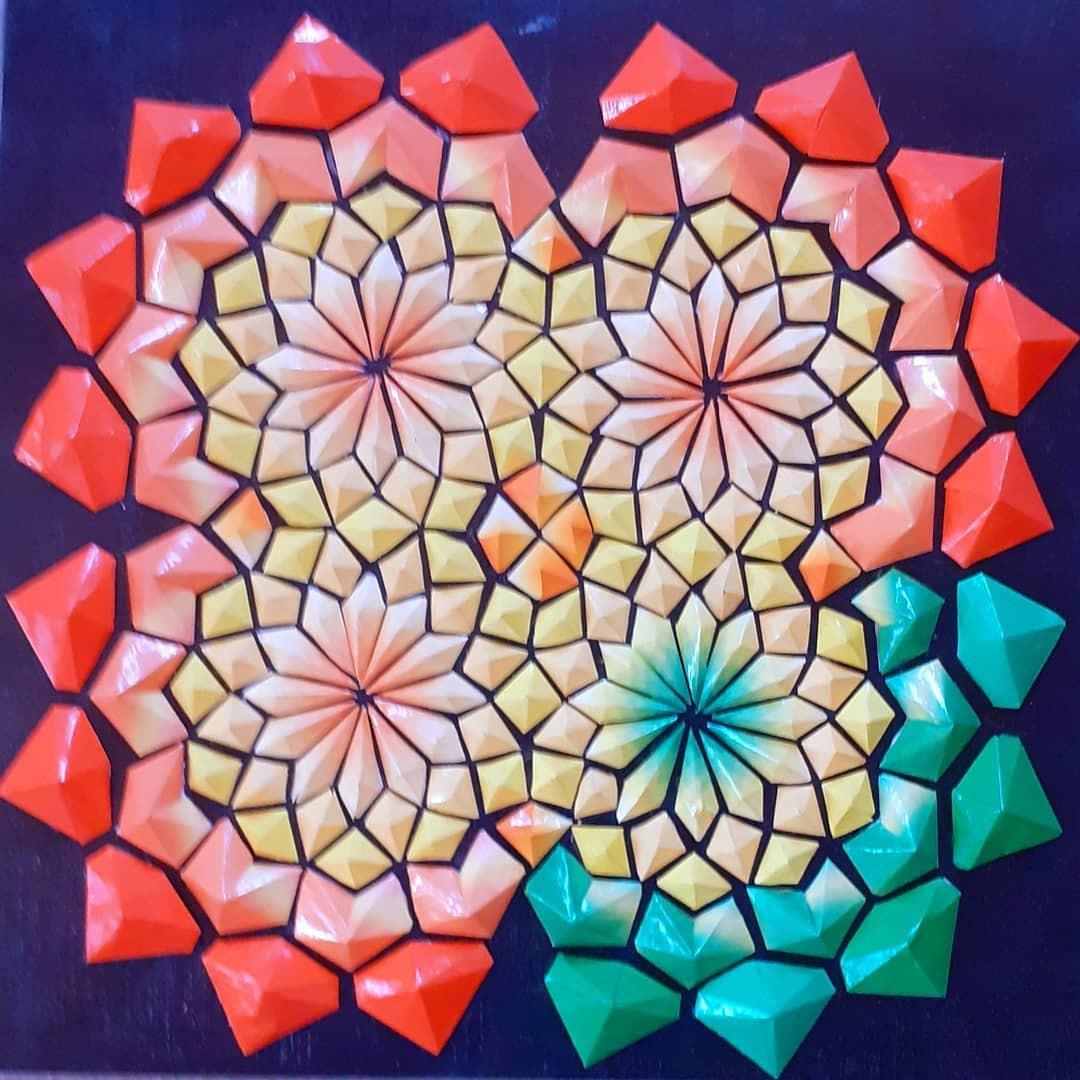 Замысловатое искусство из цветной бумаги от Intuition Paper Art
