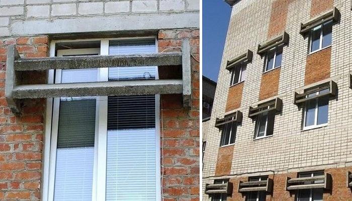 Для чего в советских многоэтажках устанавливали бетонные «козырьки»
