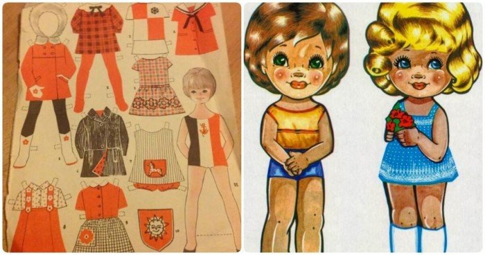 Бумажные куклы в СССР — мечта ребятишек