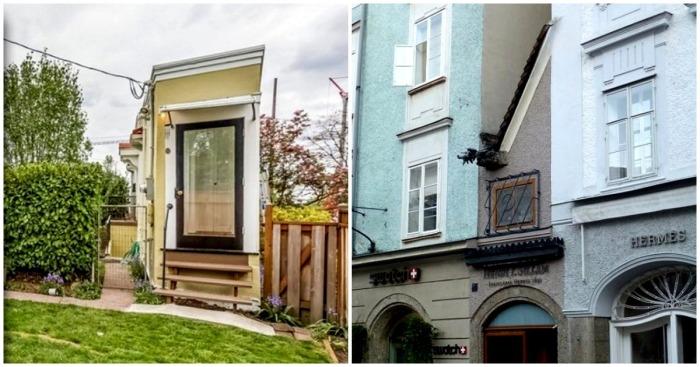 Четыре самых узких дома в мире