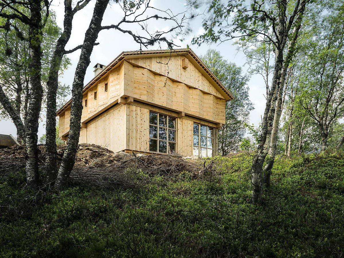 Деревянный горный дом в Норвегии