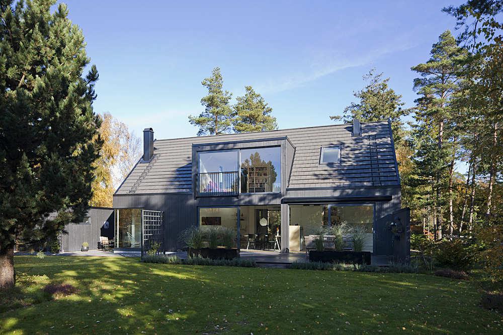 Дом с мезонином для молодой семьи в Швеции