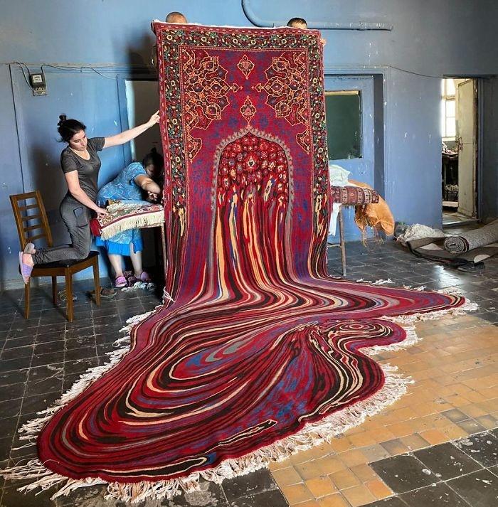 Необычные заглючившие ковры от Фаига Ахмеда