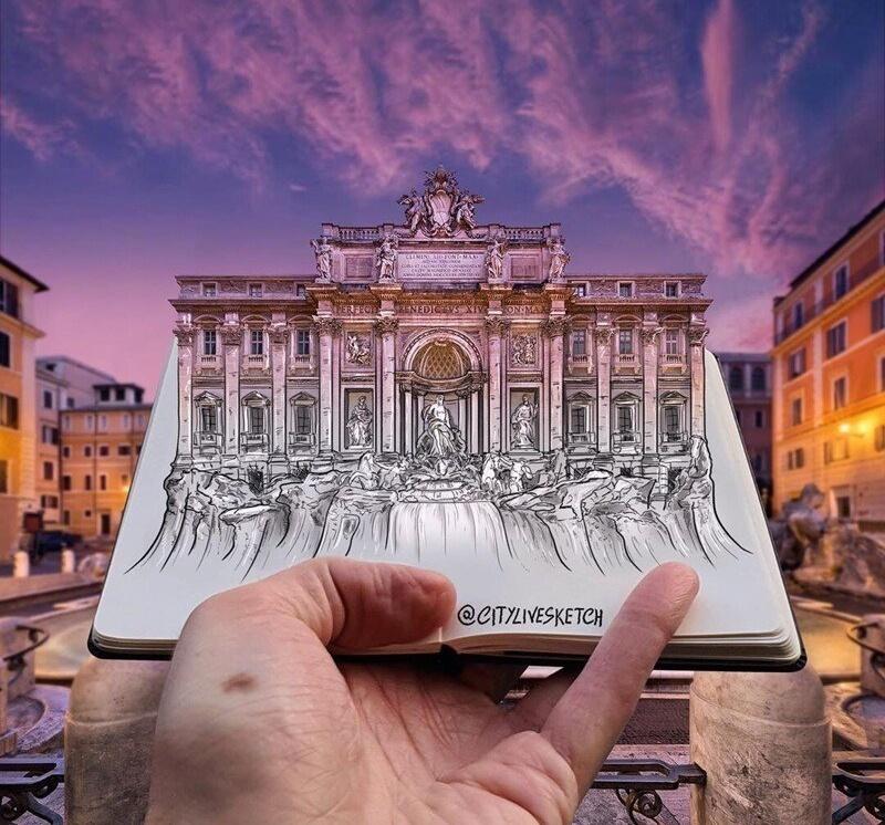 Художник совмещает реальность с фантазией