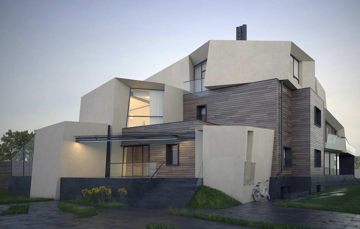 Большой дом с современным интерьером в Подмосковье