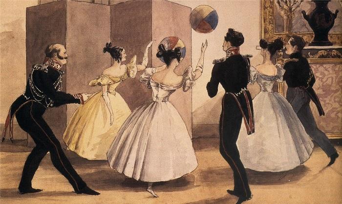 Чем забавлялись аристократы в светских салонах XIX века