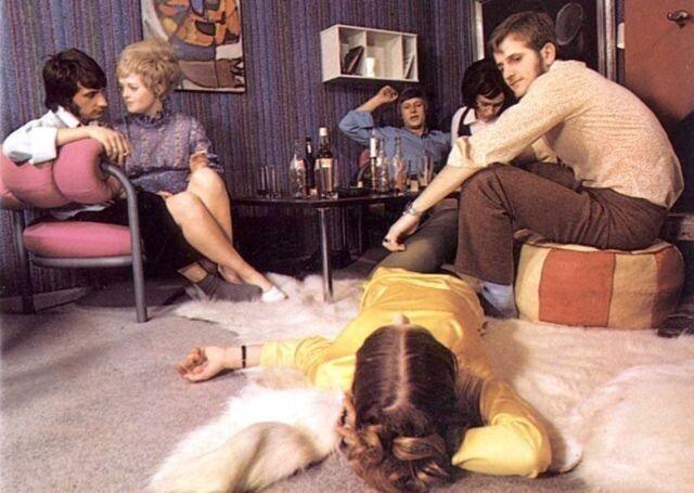 Фотографии с «тусовок» и вечеринок в 1970-х годах