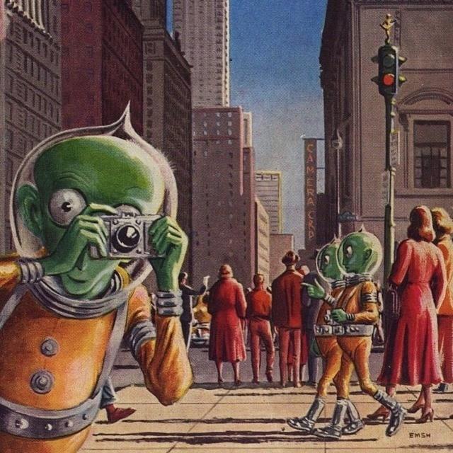 Космос и футуристические города будущего от фантастов