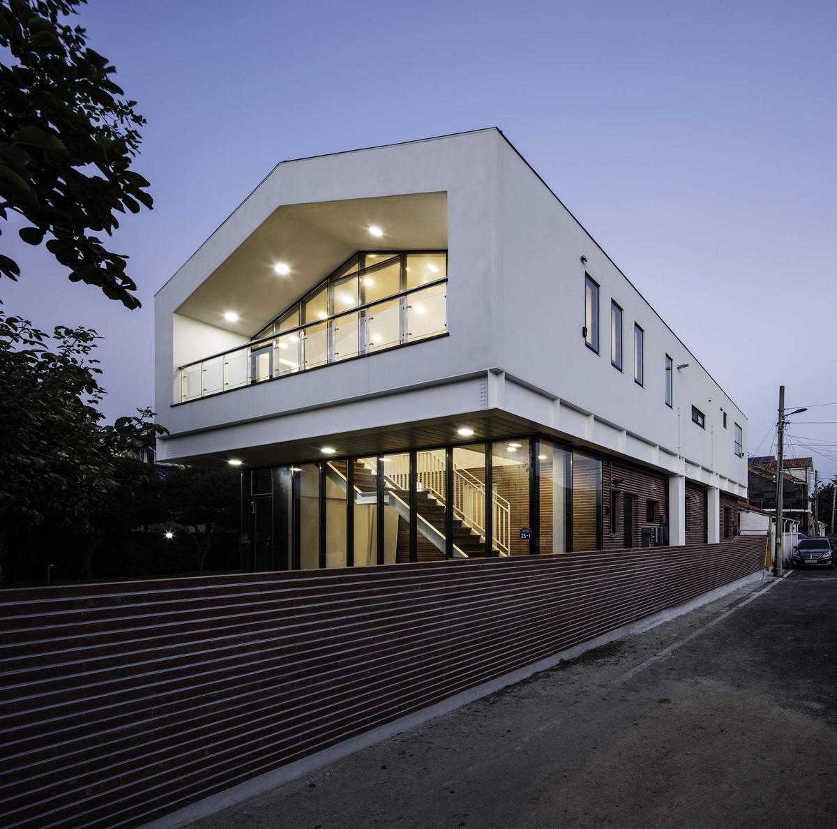 Одноэтажный кирпичный дом в Южной Корее