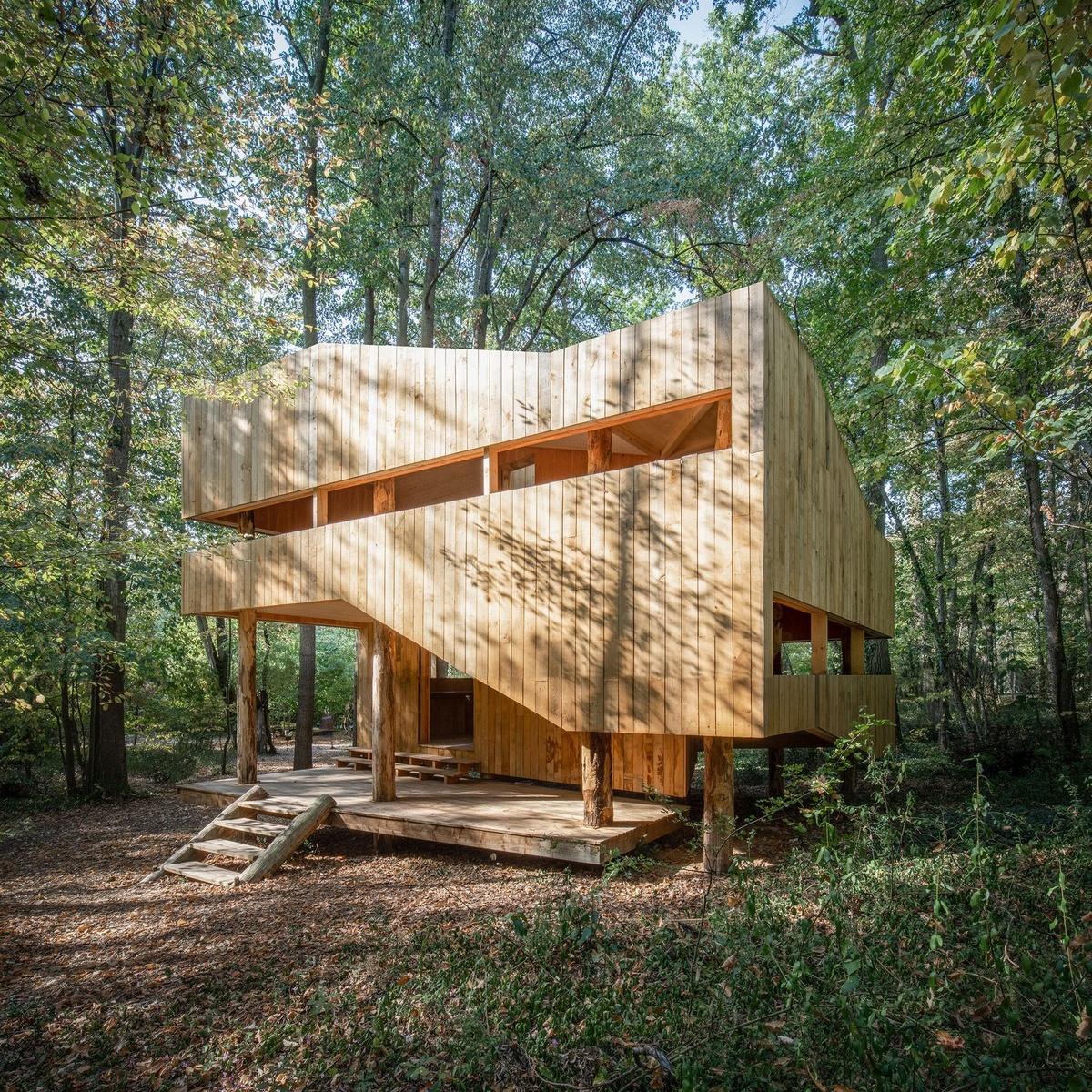 Полностью деревянный дом во Франции