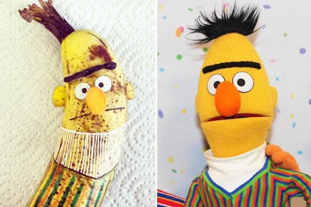 Художница вырезает портреты знаменитостей на бананах