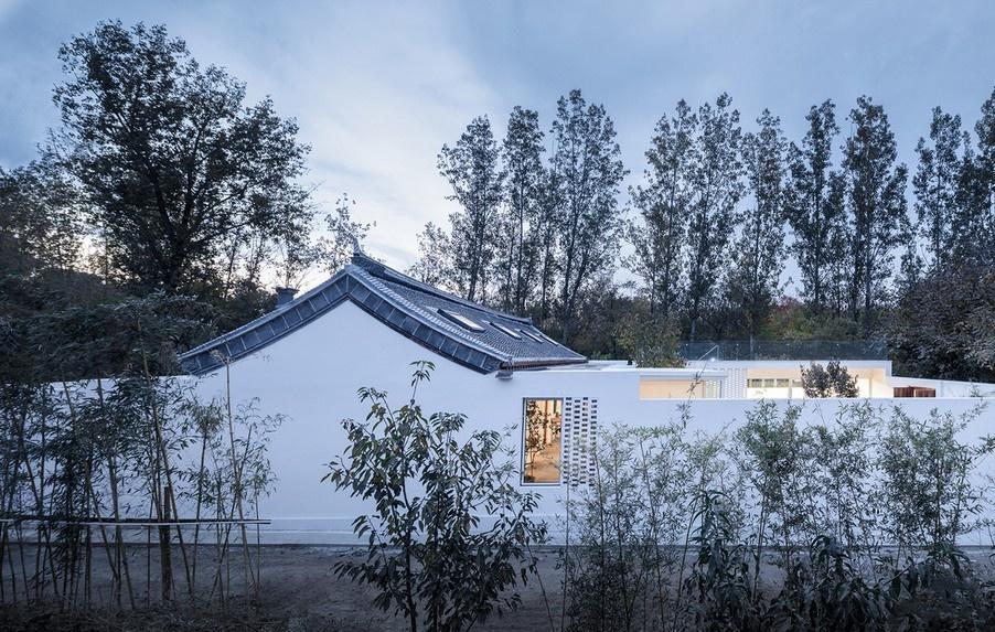 Фермерский дом с двором в Китае