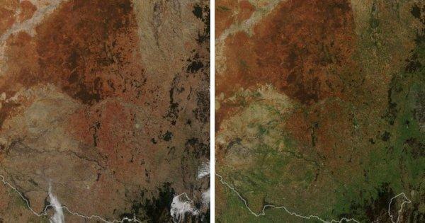 Фотографии от НАСА показывают изменения на поверхности Земли