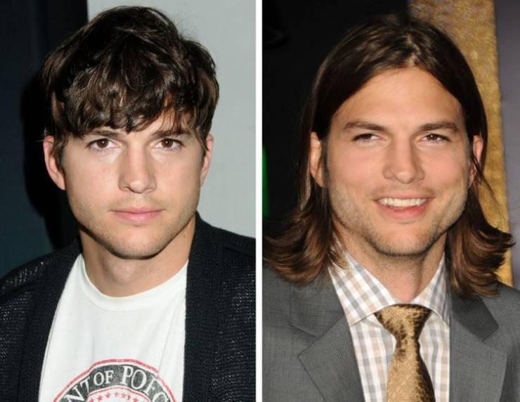 Голливудские актёры в образах длинноволосых красавцев
