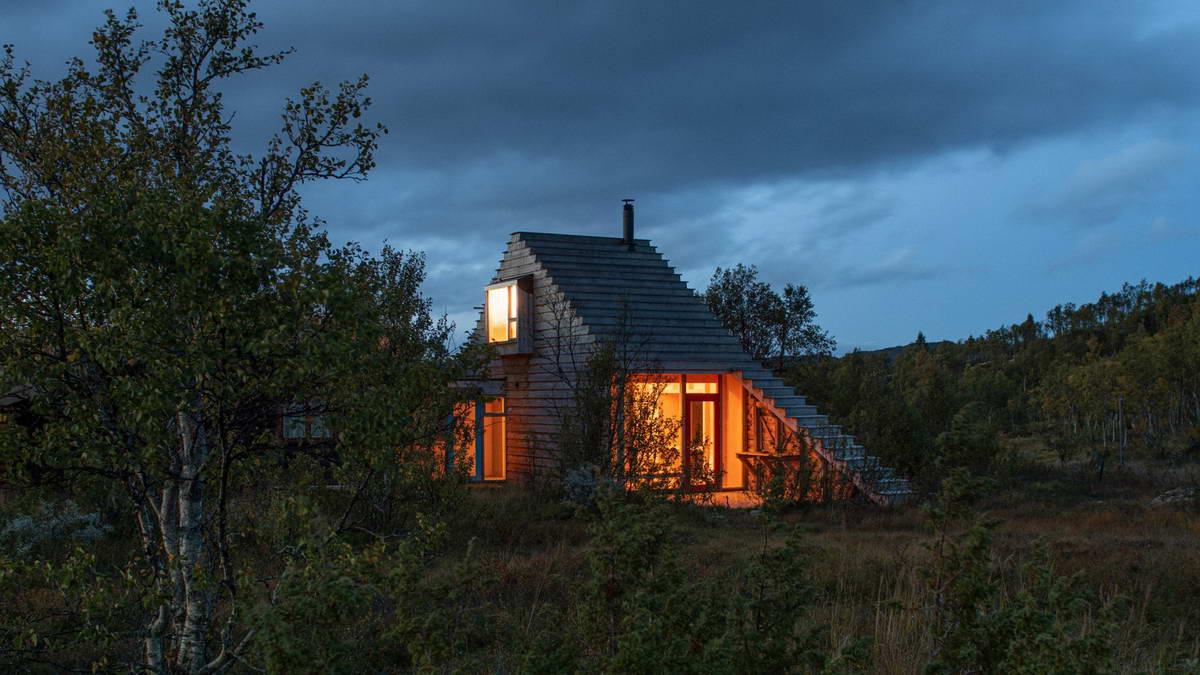 Необычный деревянный дачный дом в Норвегии