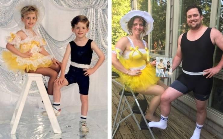 Они воссоздали свои старые снимки по-новому