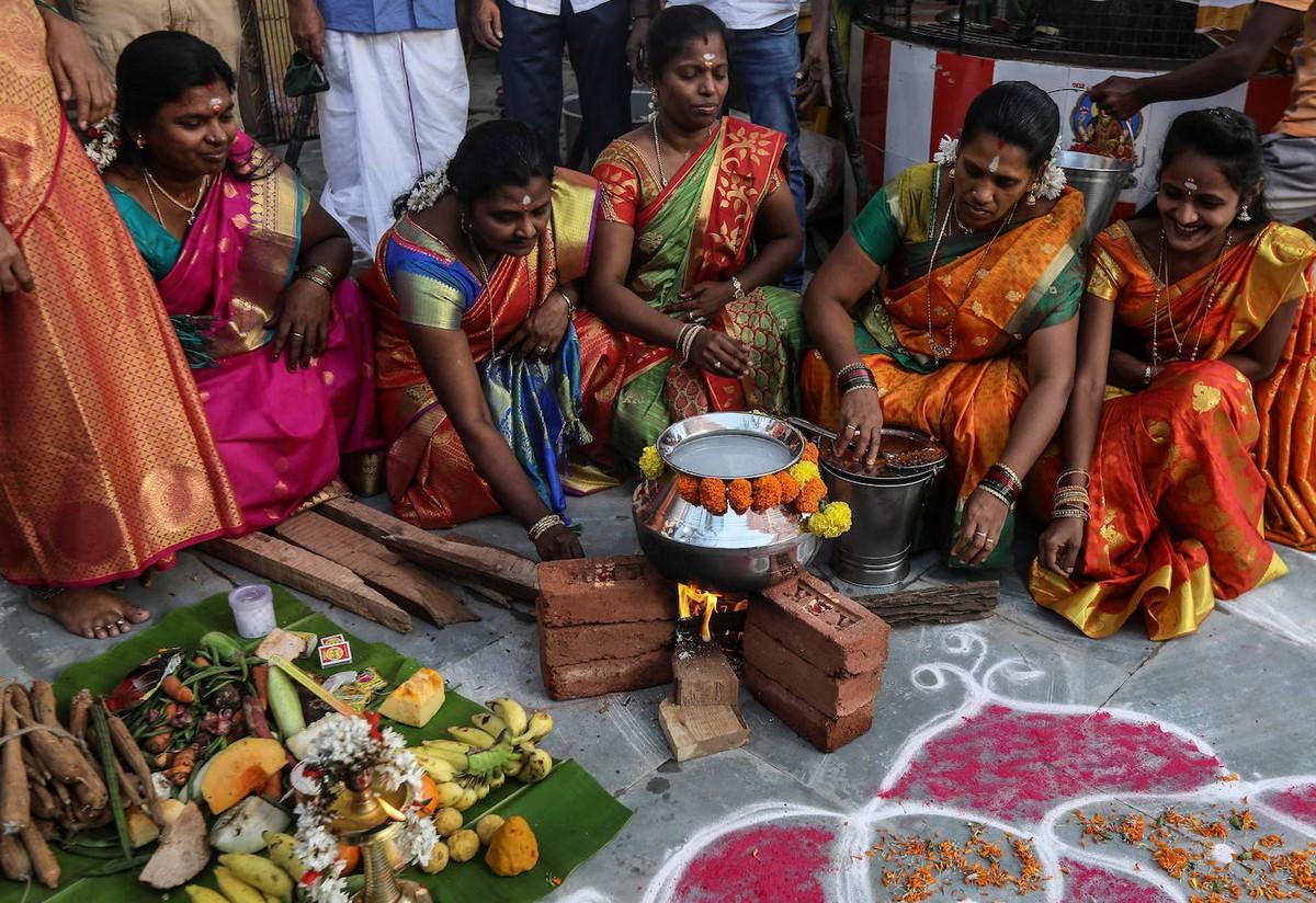 Праздник урожая Понгал в Бомбее