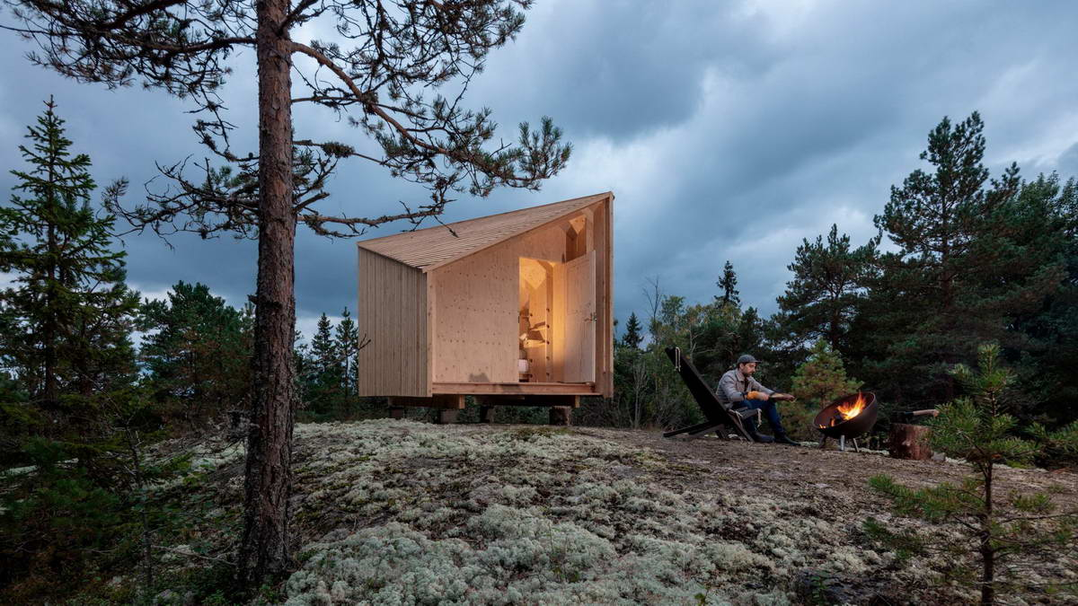Универсальный деревянный микродомик в Финляндии