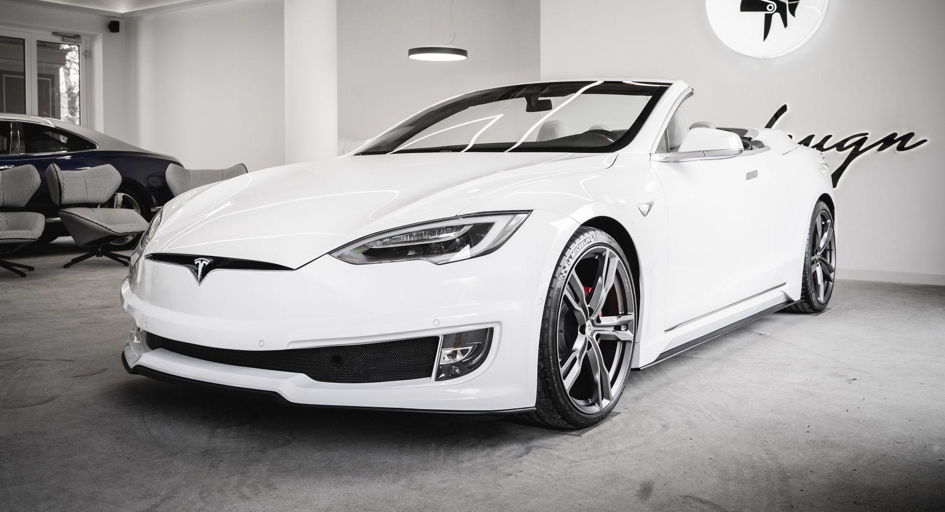 Двухдверный кабриолет Tesla Model S от Ares Design