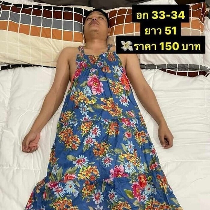 Пока муж владелицы магазина одежды спал, жена сделала из него манекен