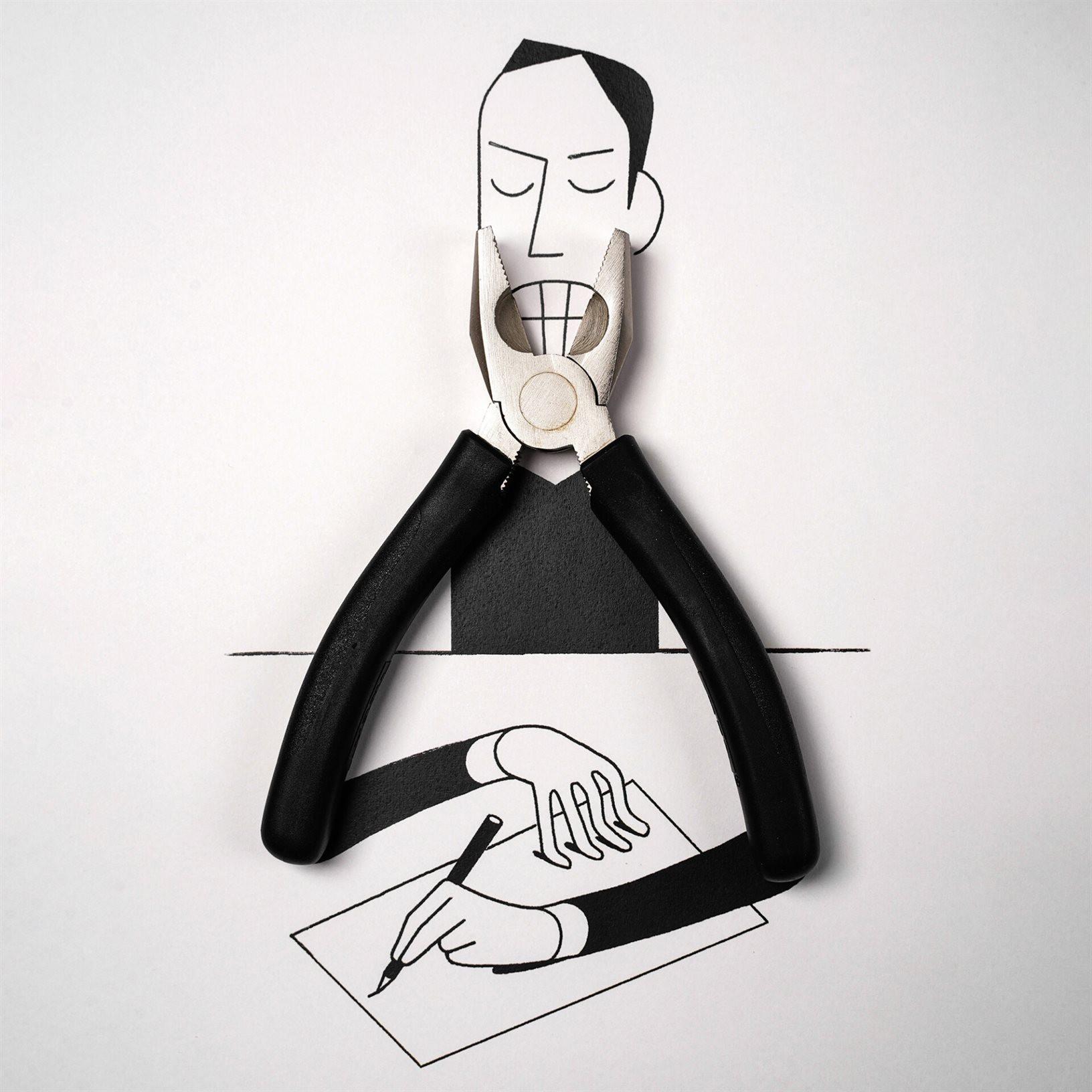 Художник может превратить любой предмет в причудливую иллюстрацию