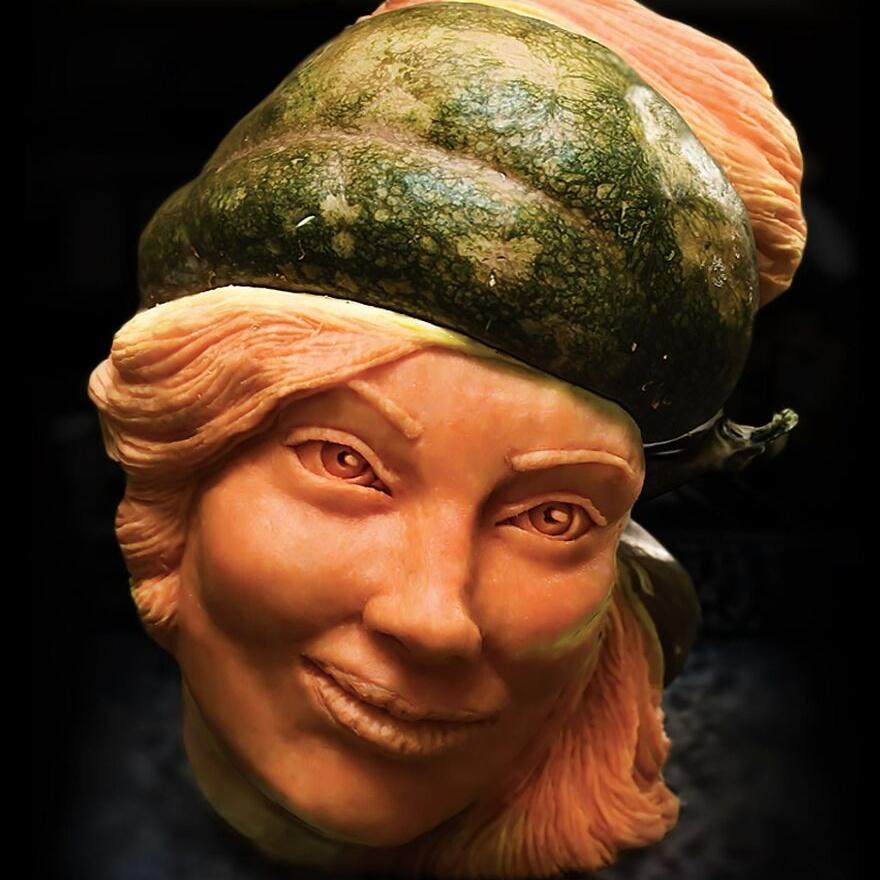 Невероятные скульптуры из овощей, фруктов, кофейных зёрен, сыра и трюфелей