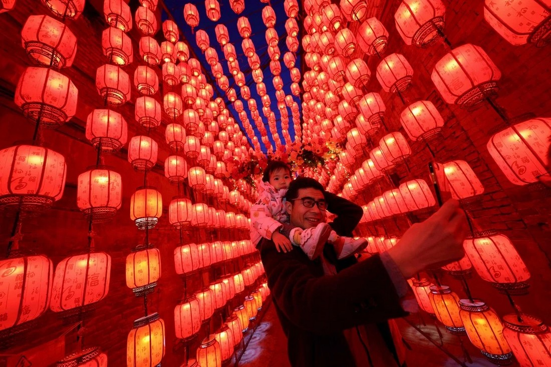 Праздник фонарей в Китае на снимках