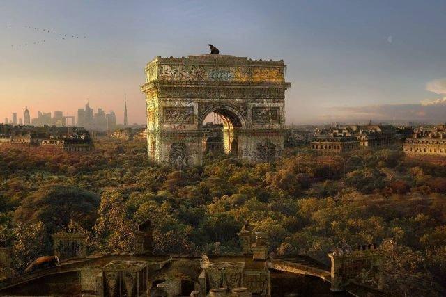 Художник Крис Морин-Эйтнер представил города, как если бы человечество исчезло