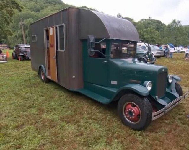 Автодом в викторианском стиле, в котором есть полноценная ванна