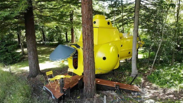 «Безумный ученый» из Новой Зеландии построил желтую подводную лодку в лесу