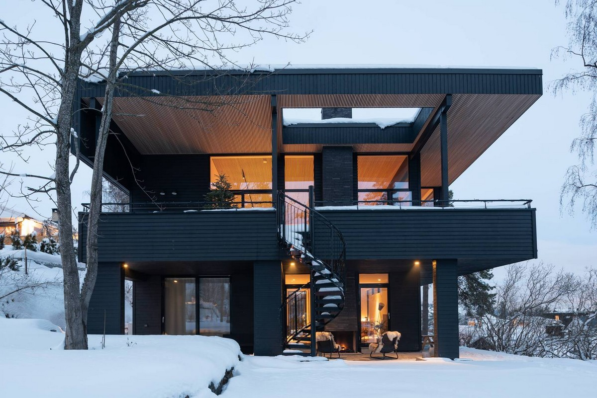 Двухэтажный особняк для уединенного отдыха в Норвегии