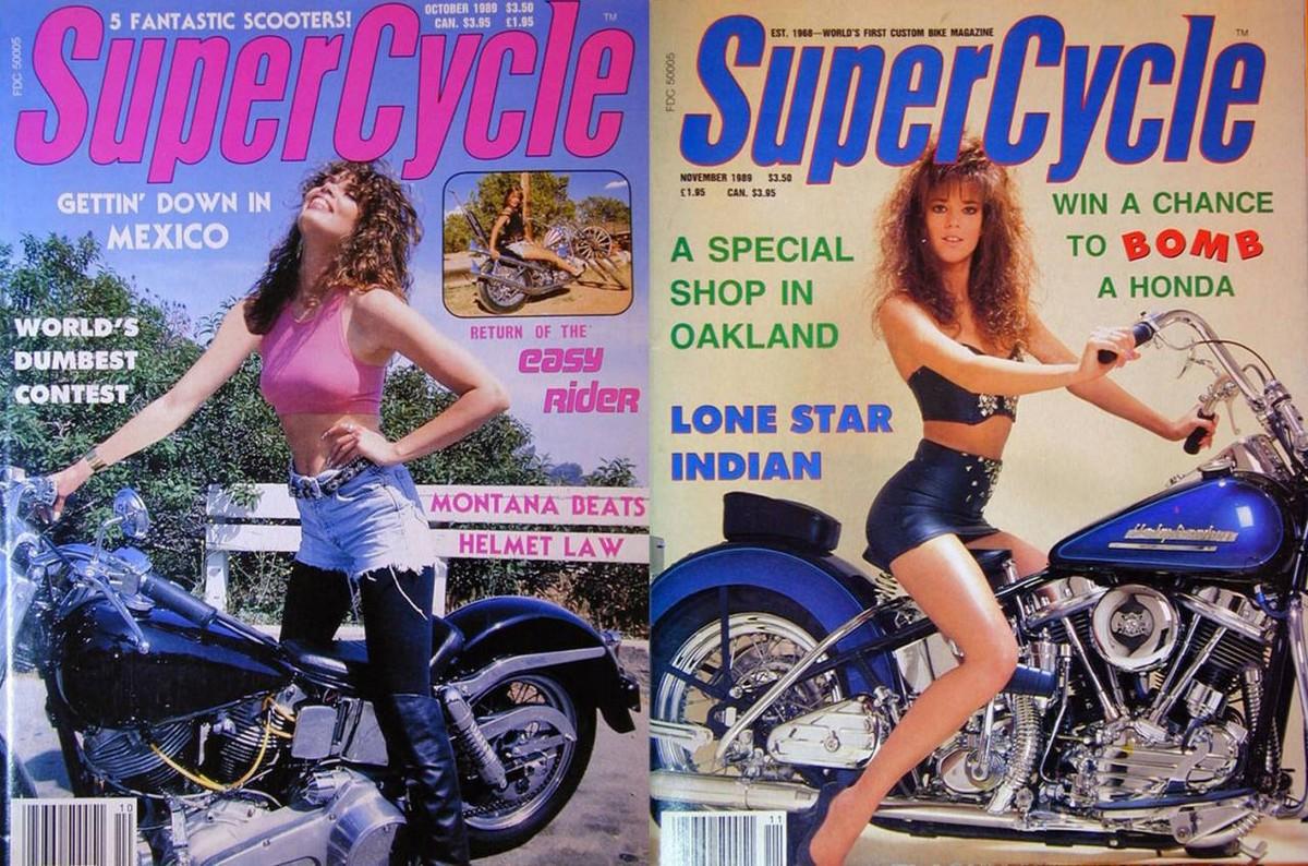 Горячие девушки на обложках байкерских журналов 1980-х годов