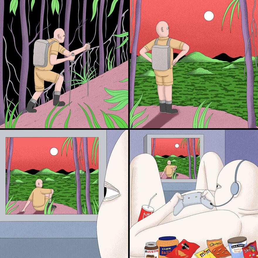 Необычные абсурдные комиксы от Алекса Гамсу Дженкинса