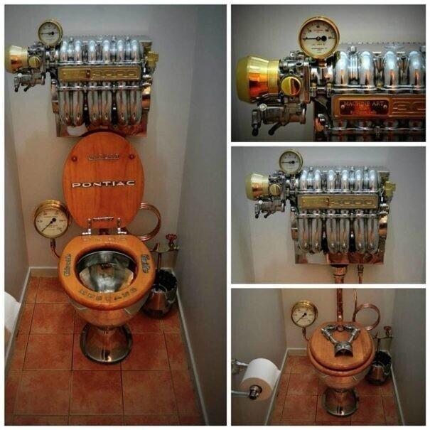 Необычные креативные идеи дизайна туалета