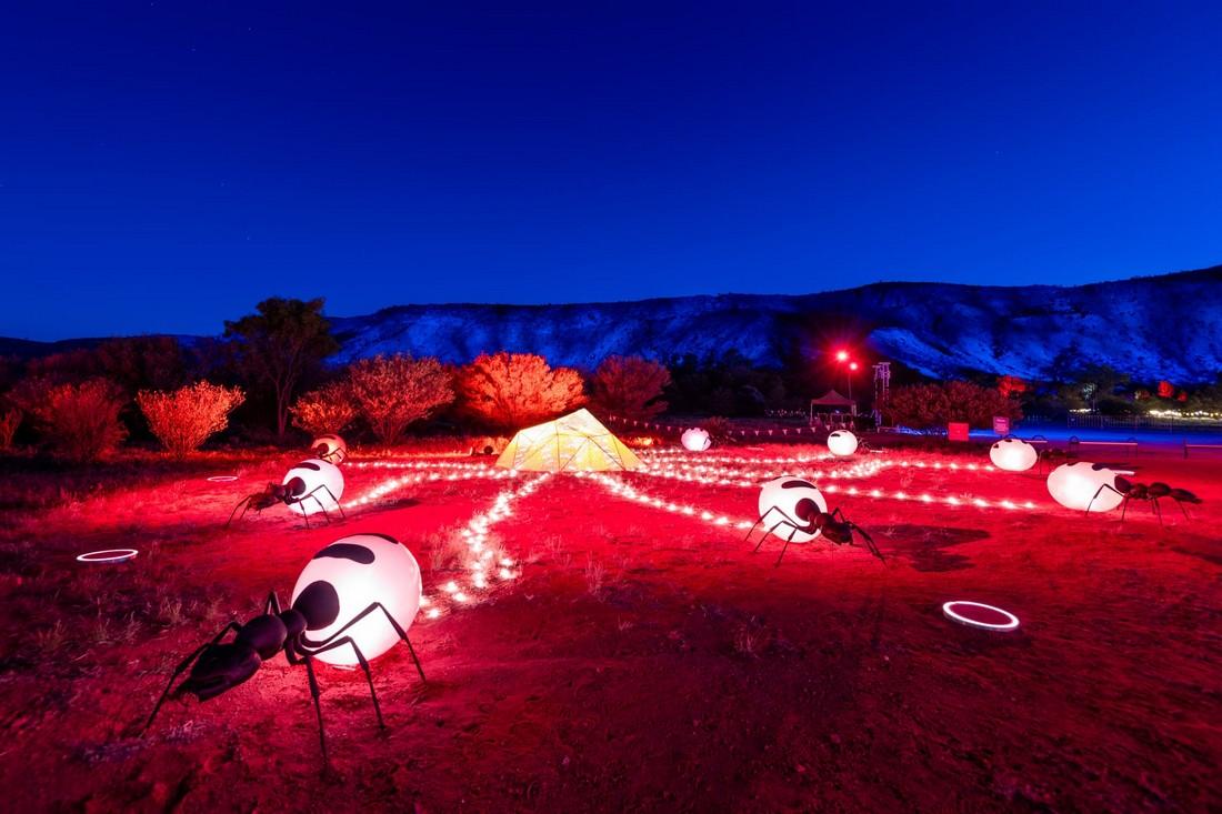 Парртджима 2021: фестиваль световых инсталляций в Австралии
