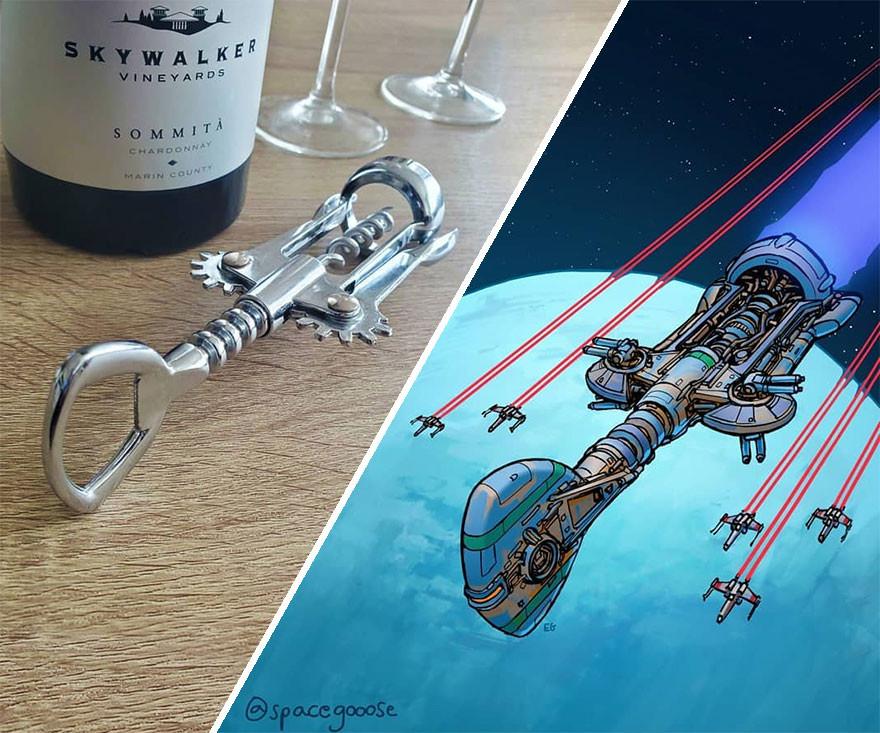 Космические корабли, вдохновлённые повседневными предметами