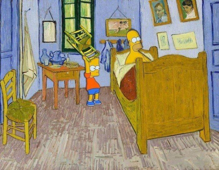 Поклонник мультсериала «Симпсоны» переосмысливает классические полотна