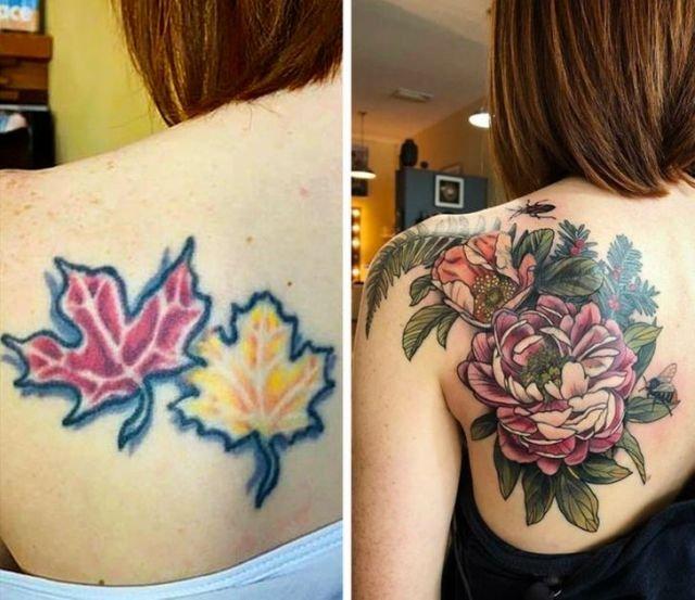 Исправление и перекрытие провальных татуировок