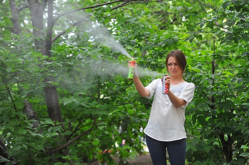Народные советы помогут перестать кормить комаров на улице