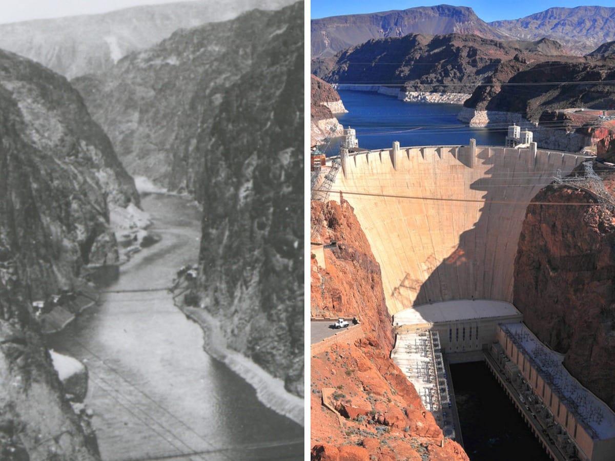 Знаменитые места и постройки до и после их появления