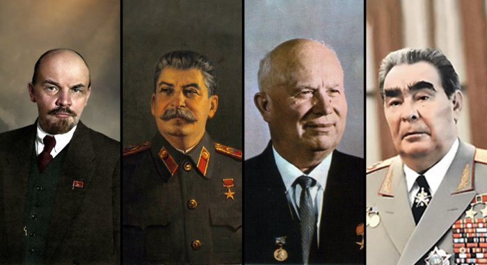 Что делали Ленин, Сталин, Хрущёв и Брежнев во время Октябрьской революции 1917 года?
