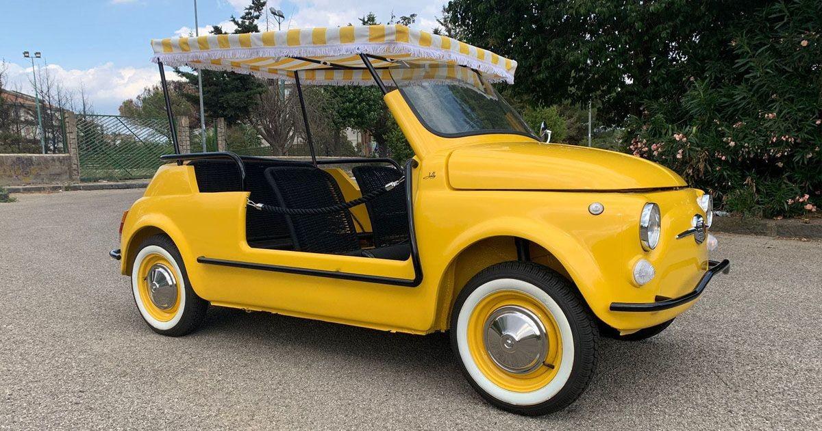 Fiat 500 Jolly Evocation в стиле пляжных автомобилей миллионеров прошлого